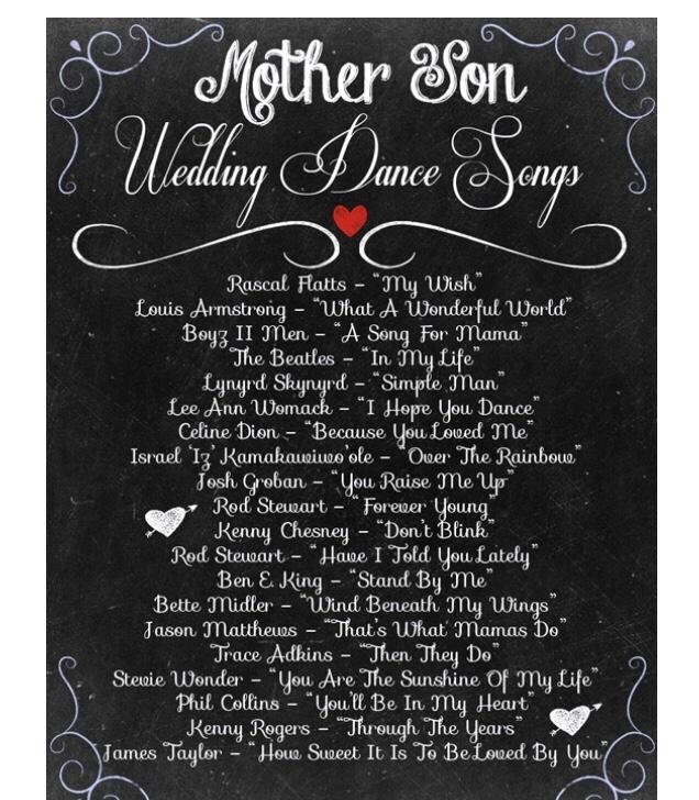 Best Mother Son Wedding Dance Songs The Wedding Crashers